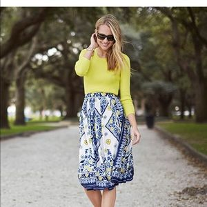 Banana Republic scarf print skirt